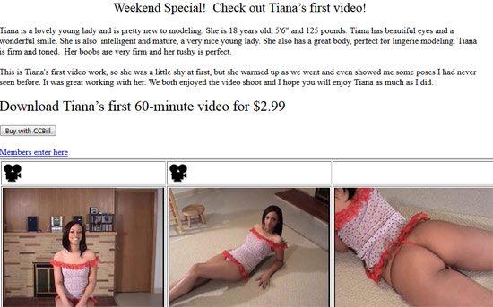18yo Tiana on Northwest Beauties | Daily Girls @ Female Update