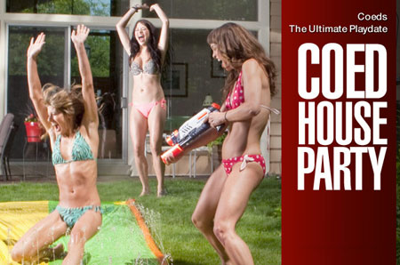 Party Coeds – Drunk Water Fight | Daily Girls @ Female Update