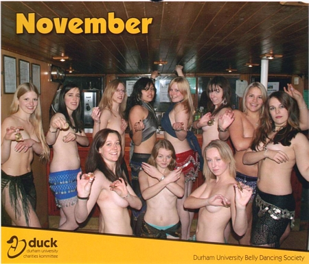University Coeds get Topless for Charity