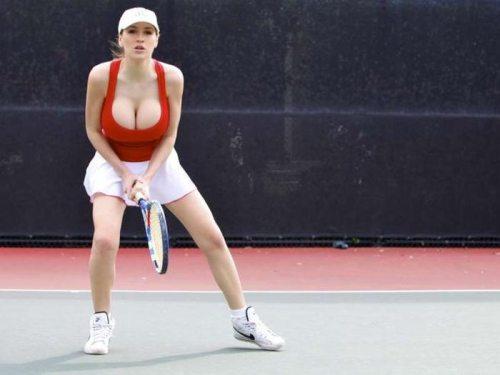 Jordan Carver playing tennis is sexy