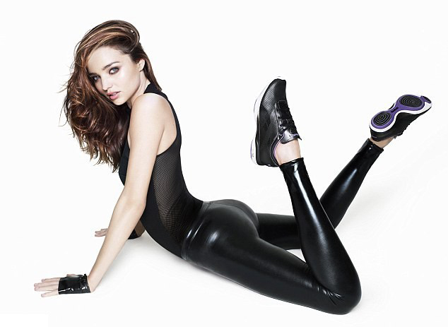 Miranda Kerr in skin-tight latex pants | Daily Girls @ Female Update