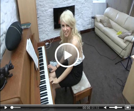 Holly Shows Off her Talent as she Plays the Piano | Daily Girls @ Female Update