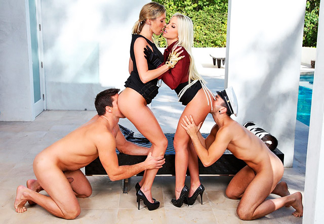 Britney Amber and Samantha Saint Foursome | Daily Girls @ Female Update