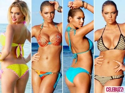 Kate Upton Flaunts Sexy Curves in Beach Bikinis | Daily Girls @ Female Update