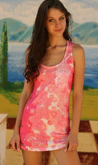 Cute Girl Kami in a Pink Dress | Daily Girls @ Female Update