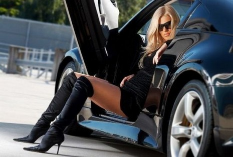 Girls with Beautiful Legs and Their Cars