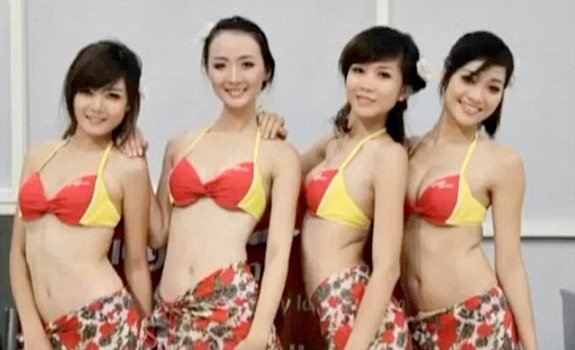 VietJetAir Serves Up Sexy In-Flight Bikini Dancers | Daily Girls @ Female Update