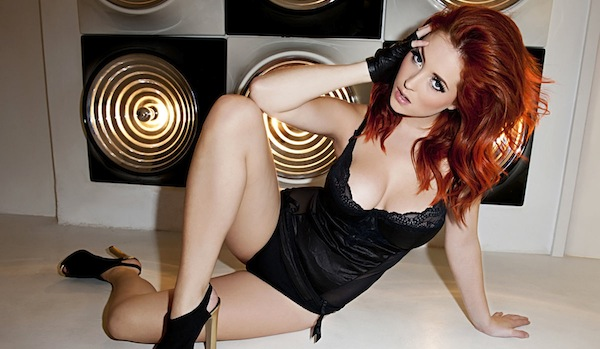 Lucy Collett Busts Out Some Black Lingerie | Daily Girls @ Female Update
