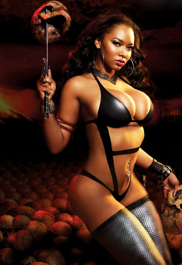 Halloween Fantasy Pinups of Esther Baxter | Daily Girls @ Female Update