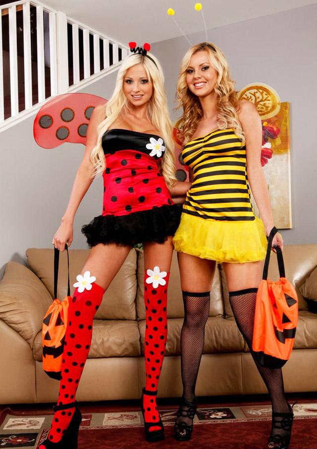 Ladybug Rikki Six & Bumble Bee Jessie Rogers 3Some | Daily Girls @ Female Update