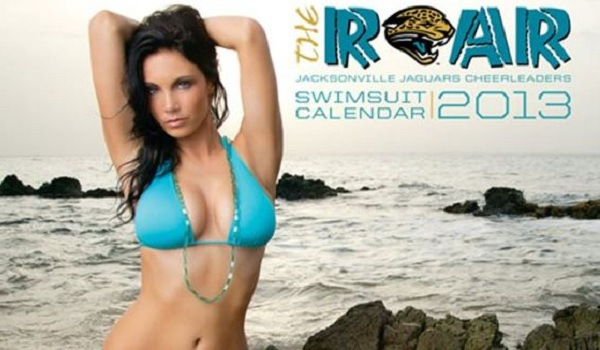 2013 Jaguars Cheerleader Bikini Calendar Shoot | Daily Girls @ Female Update
