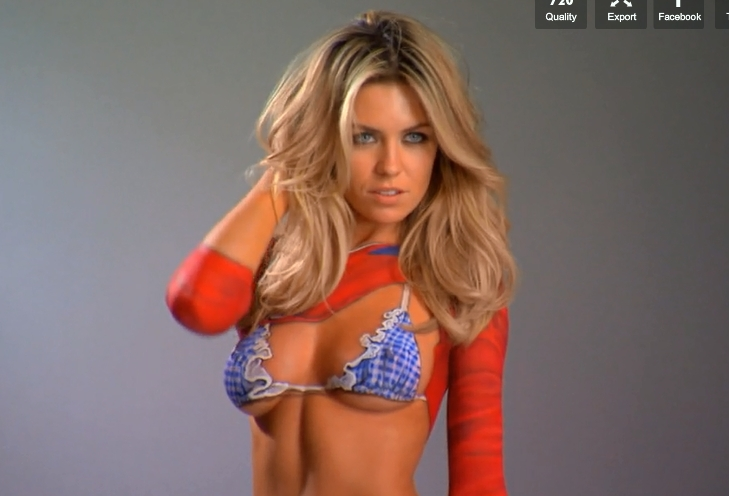 Abbey Clancy Bodypainting