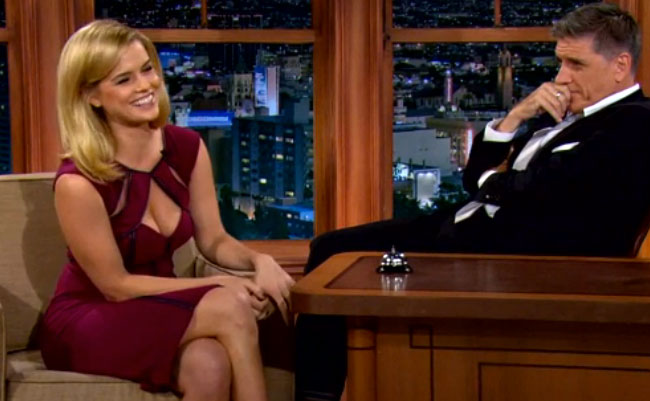 Alice Eve Wore An Impossibly Distracting Dress