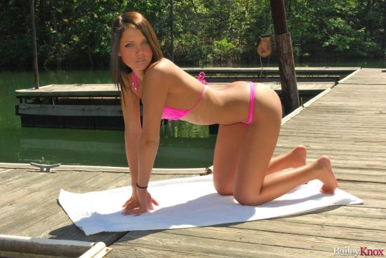 Bailey Knox sunbathes by the lake | Daily Girls @ Female Update