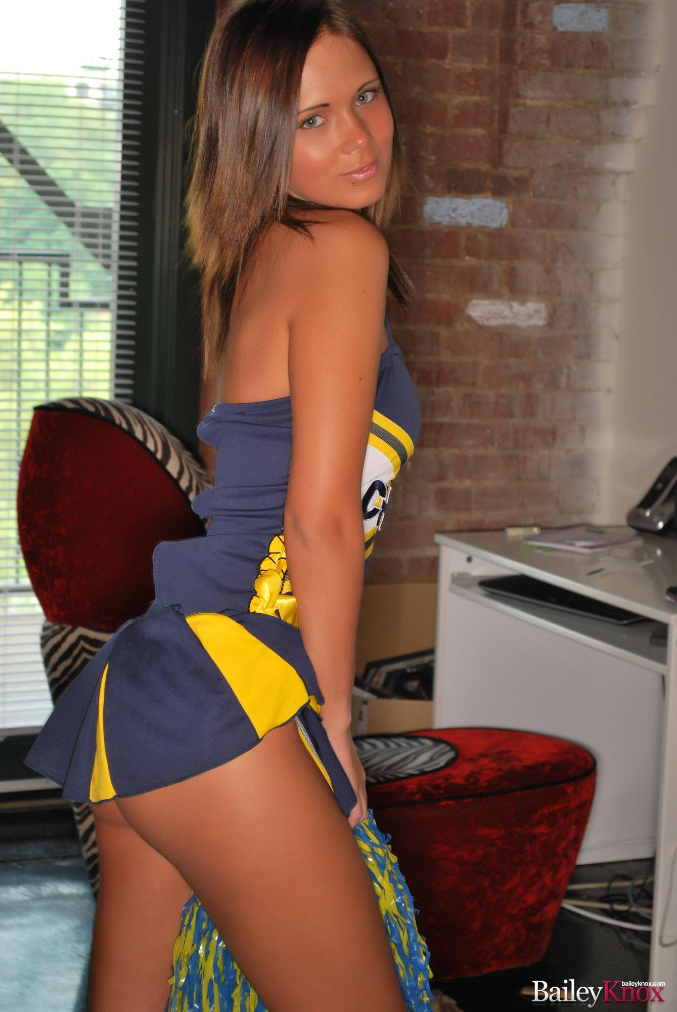 Beautiful Bailey Knox as the charming cheerleader | Daily Girls @ Female Update