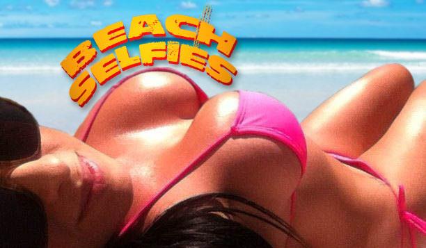 Big Boobs Beach Selfies