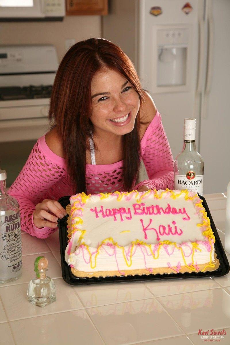 Birthday girl Kari Sweets gets wet and messy   Daily Girls @ Female Update