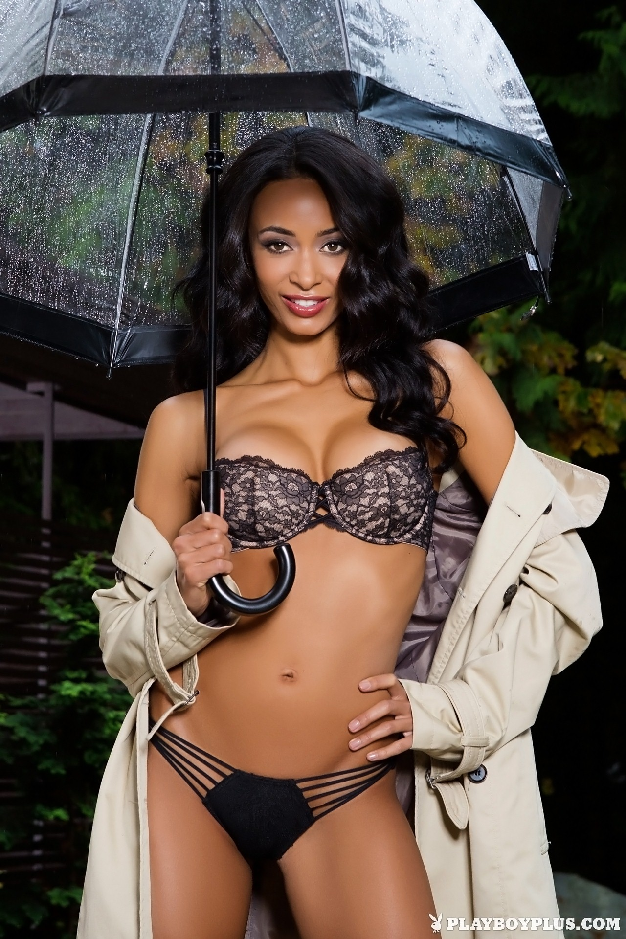 Brandi Alexander Stripping in the Rain for Playboy | Daily Girls @ Female Update