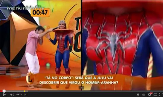 Brazilian Girl in Spiderman Bodypaint | Daily Girls @ Female Update