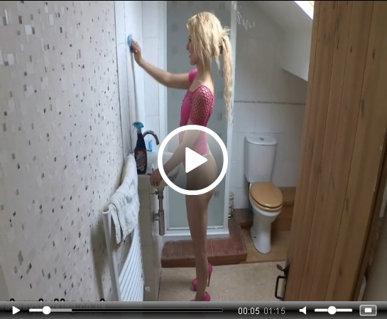 Brooke Logan Cleaning in a Thong | Daily Girls @ Female Update