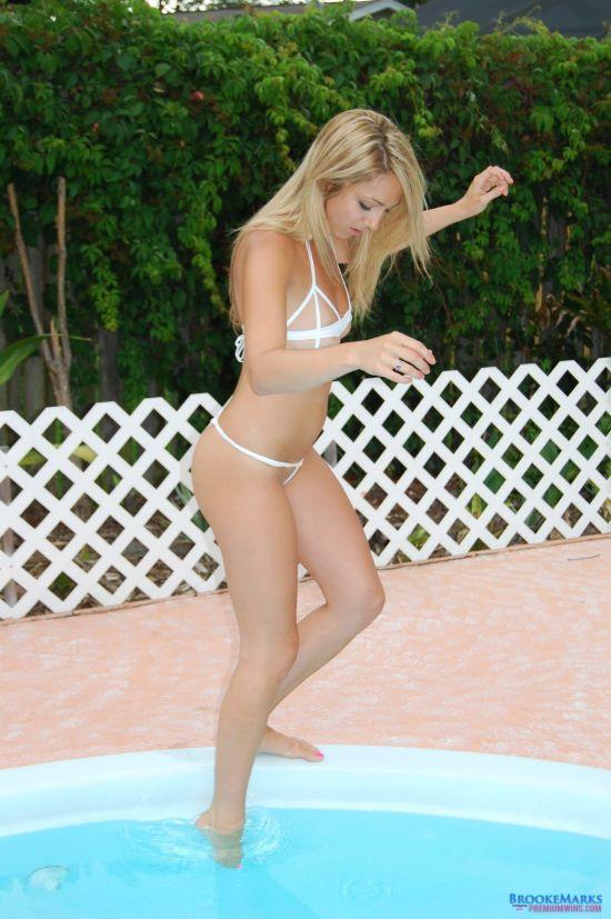 Brooke Marks gives a poolside micro bikini tease   Daily Girls @ Female Update
