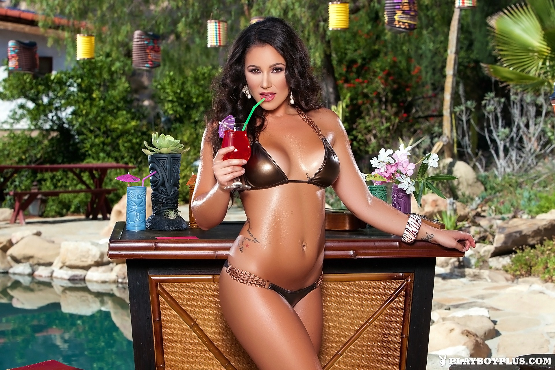 Candace Leilani nude at the Tiki Bar for Playboy | Daily Girls @ Female Update