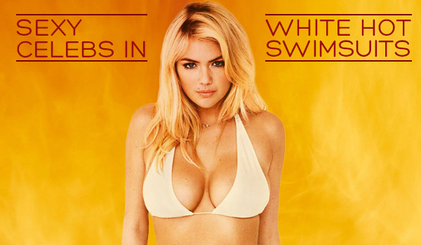 Celebrities in White Swimsuits