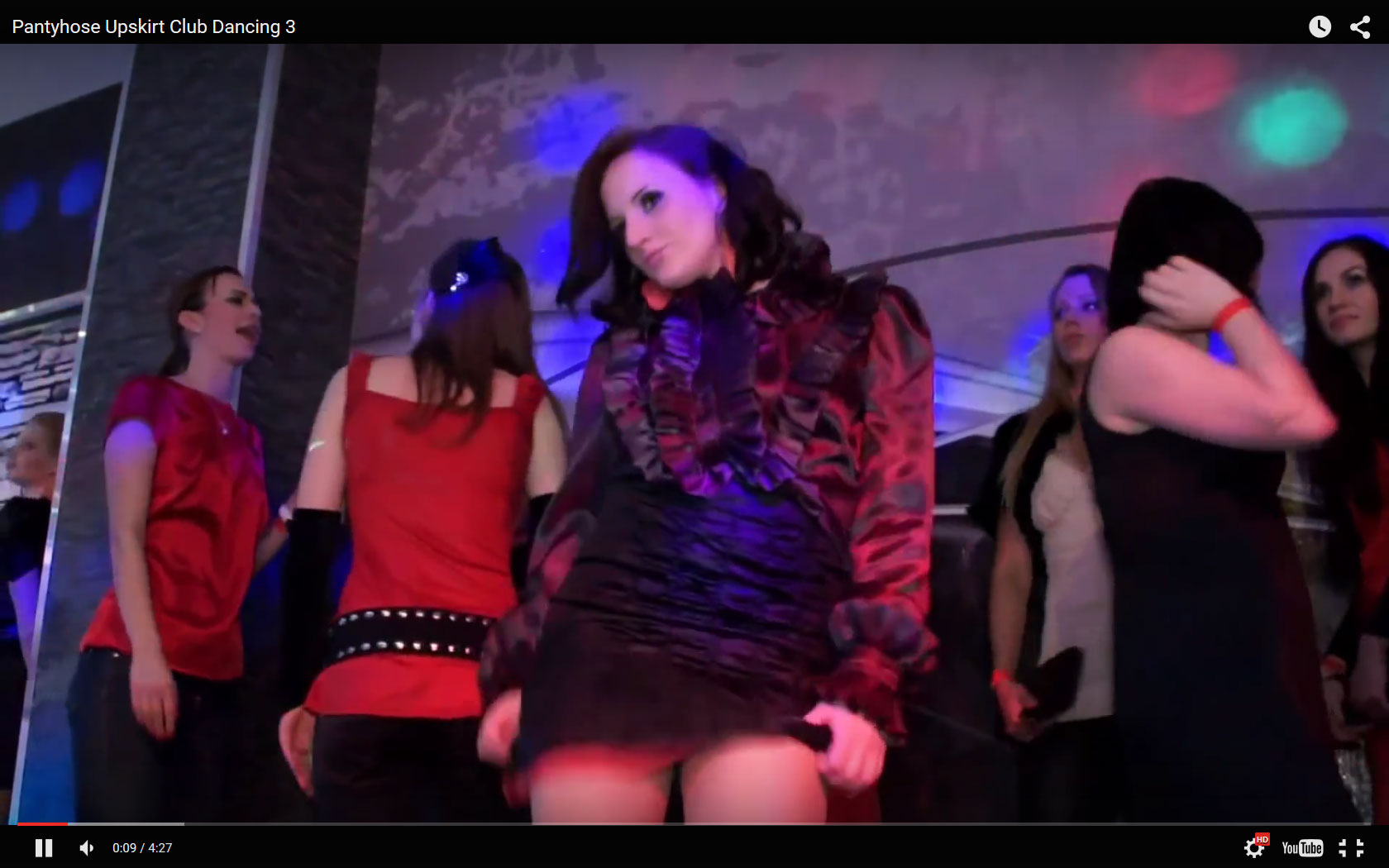 Dancing Pantyhose Upskirt in a Club | Daily Girls @ Female Update