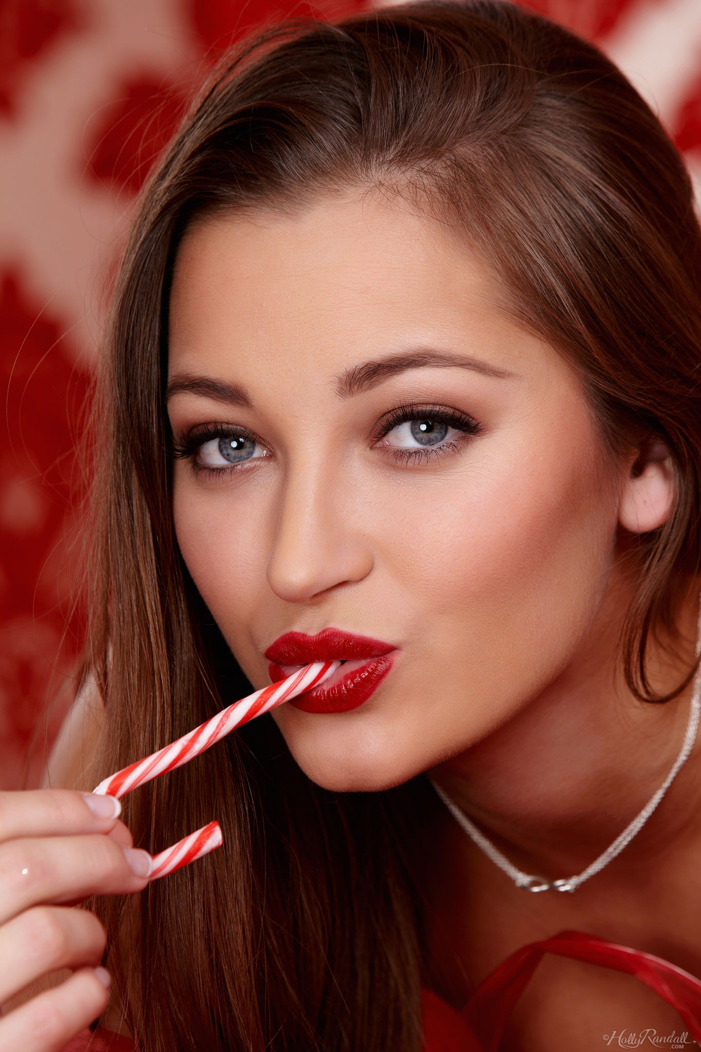 Dani Daniels with Candy Cane for Holly Randall