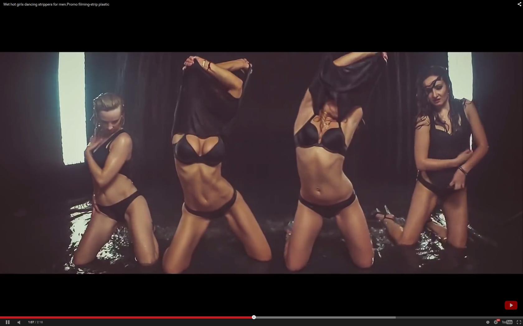 Four Hot Girls Perform a Strip Tease