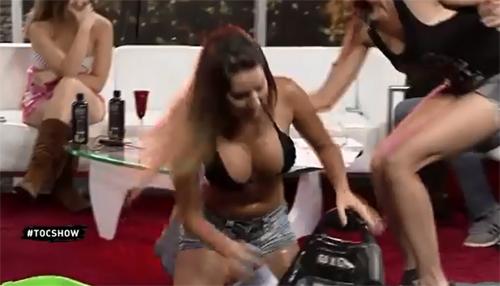Girls Get Wet on a TV Show