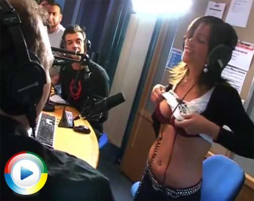 Girls lift their skirts on a radio show | Daily Girls @ Female Update
