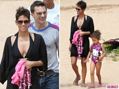 Halle Berry busts out of her bikini