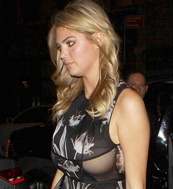 Kate Upton Wearing A Rather Interesting Dress
