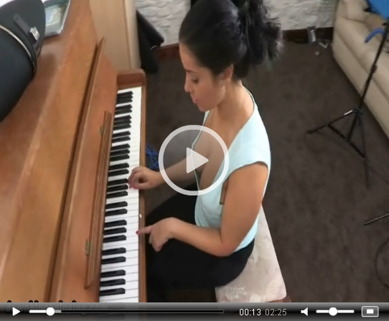 Keira Jones Plays the Piano on DownblouseLoving | Daily Girls @ Female Update