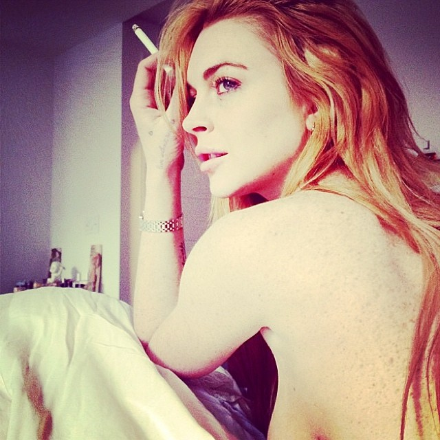 Lindsay Lohan Is Showing Some Major Sideboob | Daily Girls @ Female Update