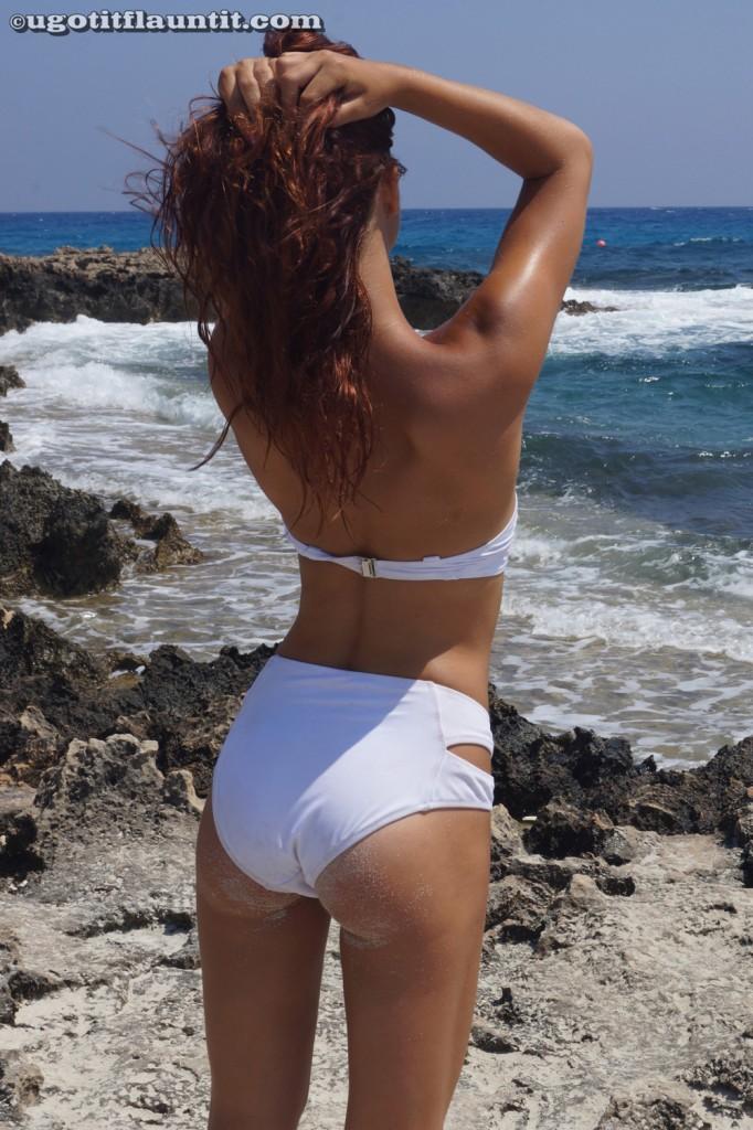 Liz Poses in a White Bikini on UGotItFlauntIt | Daily Girls @ Female Update