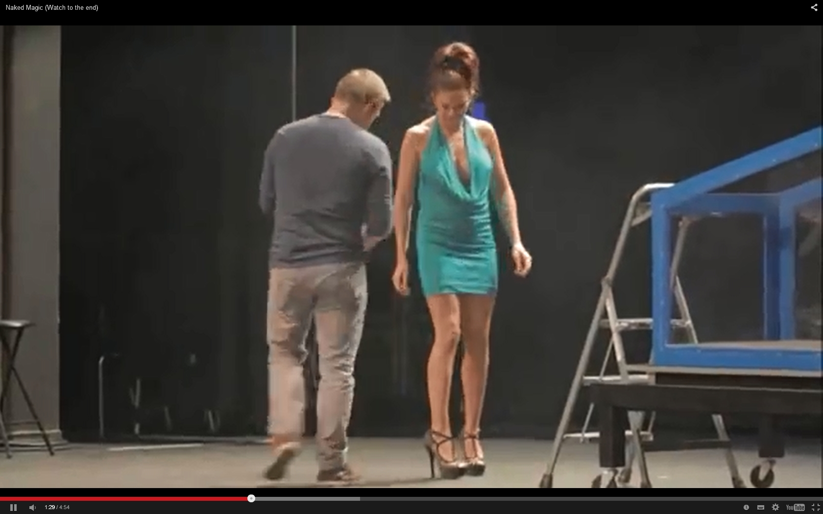 Magic Show Girl Ends Up Topless | Daily Girls @ Female Update