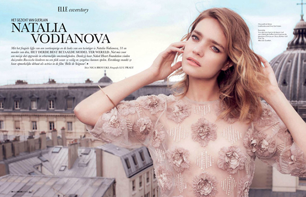 Natalia Vodianova by Luc Praet in Elle Belgium | Daily Girls @ Female Update
