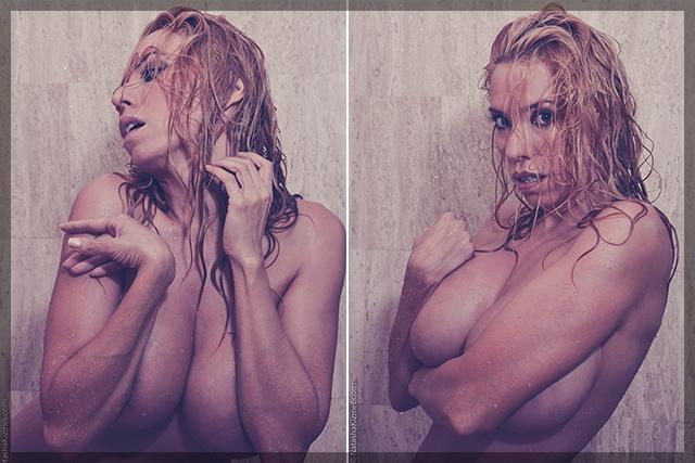 Natasha Kizmet sexy shower pictures
