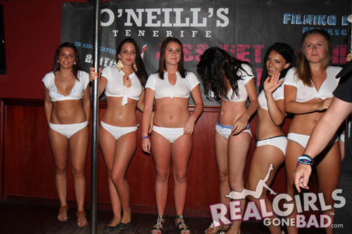 Real Girls Gone Bad in a Wet T-Shirt Contest