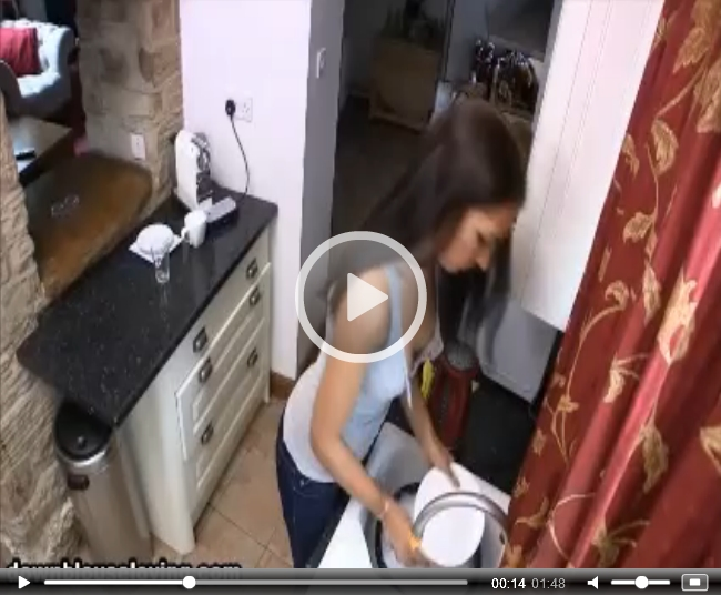 Rebecca G Washing the Dishes on Downblouse Loving | Daily Girls @ Female Update