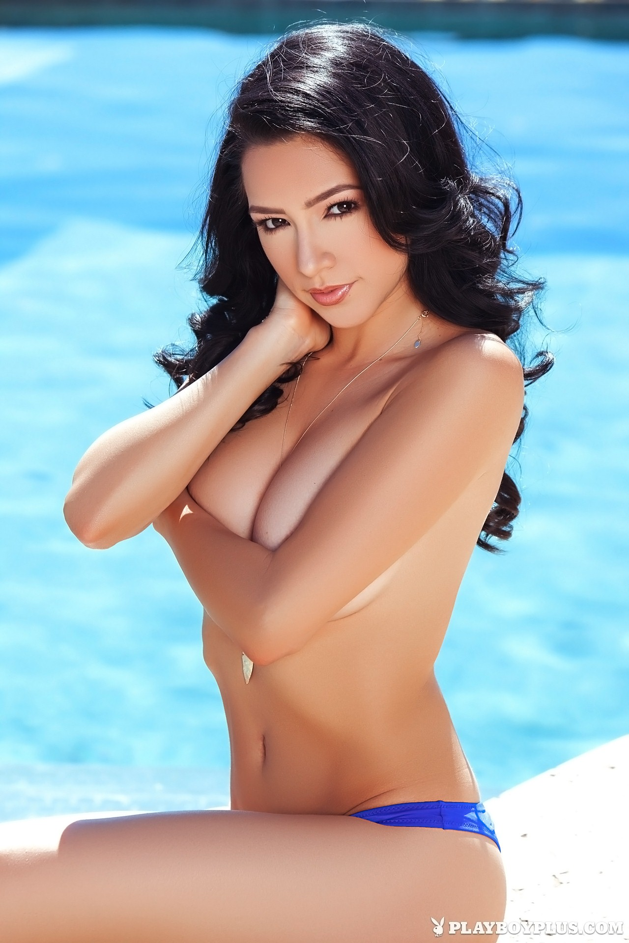 Reyna Arriaga in Deep Blue for Playboy | Daily Girls @ Female Update