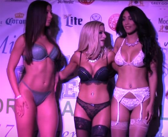 Sexy Lingerie Competition On Stage   Daily Girls @ Female Update