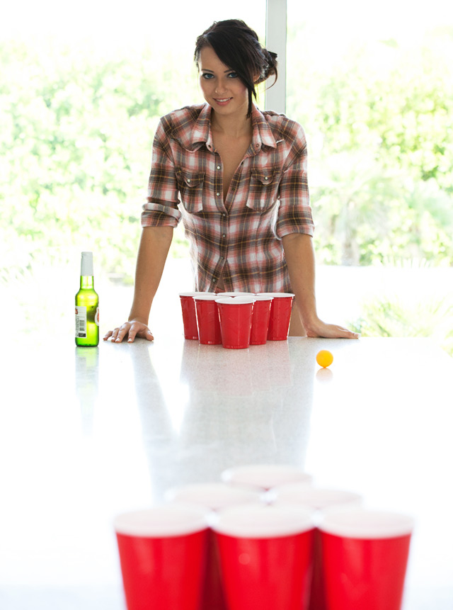 Strip Beer Pong With Natasha Belle   Daily Girls @ Female Update