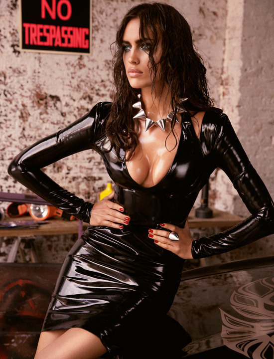 Supermodel Irina Shayk goes latex for GQ Russia | Daily Girls @ Female Update