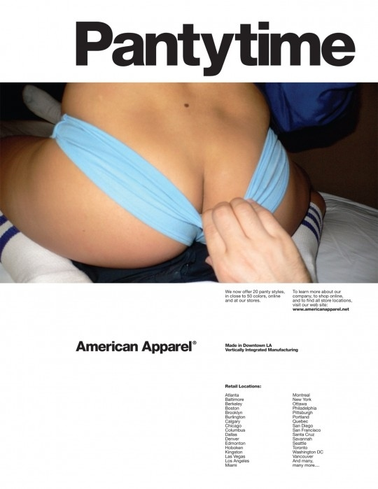 The Five Sleazist American Apparel Panty Ads | Daily Girls @ Female Update