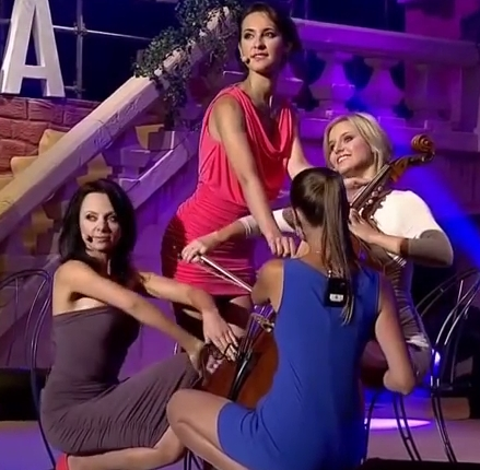 Violinists Upskirted on Stage