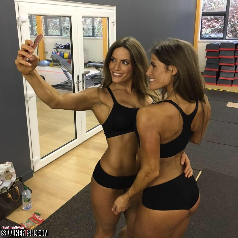 West Twins, Fitness Models Jenny West & Lucy West